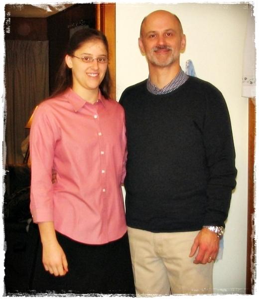 Sarah and her Dad, 2008